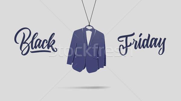 картона черная пятница продажи синий Label Сток-фото © artjazz