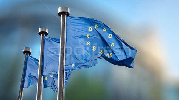 bitcoin在欧盟旗子的货币符号