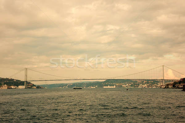 Bosphorus, Rumelian Castle and Fatih Sultan Mehmet Bridge view from, Anatolian side of the Bosporus Stock photo © artjazz