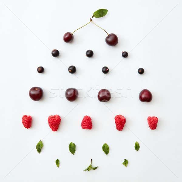 Foto d'archivio: Colorato · pattern · naturale · fresche · maturo · frutti · di · bosco