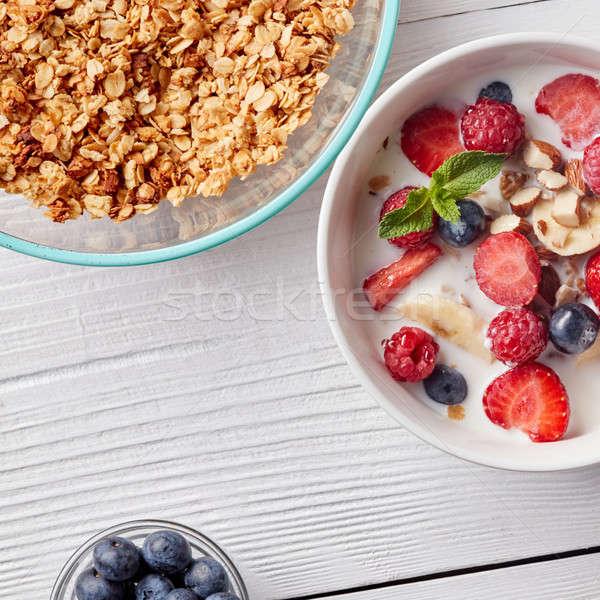 Photo stock: Prêt · déjeuner · naturelles · organique · ingrédients · granola