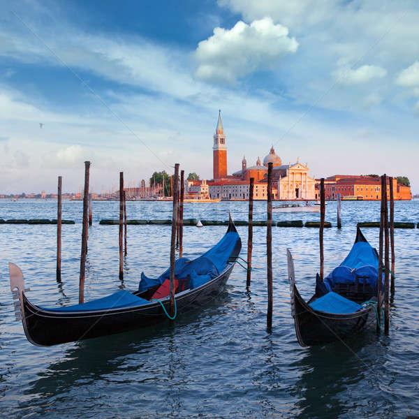 ストックフォト: 教会 · 運河 · ヴェネツィア · 水 · 風景 · 海