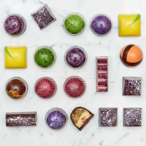 Set of multi-colored sweets tasty Stock photo © artjazz