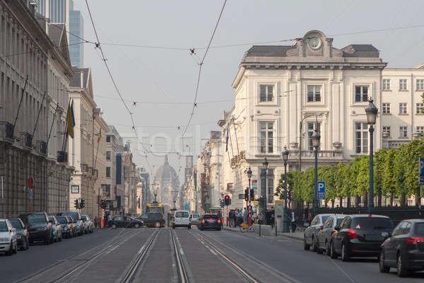 Traffic in the Brussel streets Stock photo © artjazz
