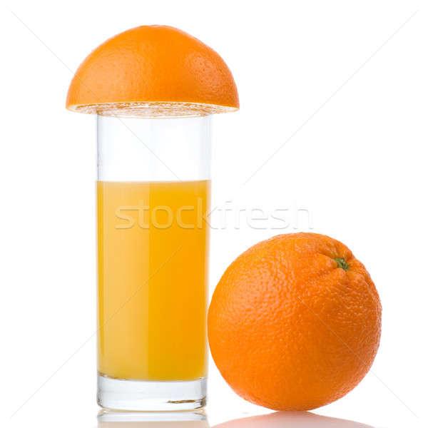 Suco de laranja laranja isolado branco comida verão Foto stock © artjazz