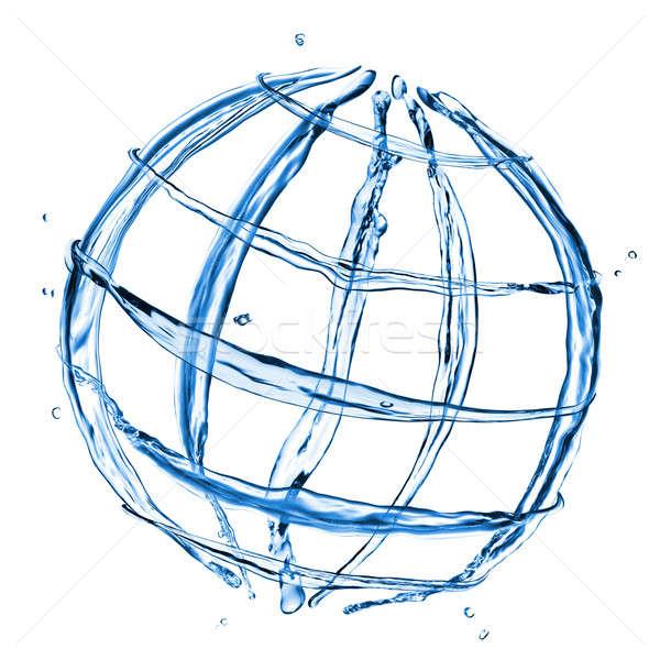 Foto stock: Resumen · mundo · agua · salpicaduras · aislado · blanco