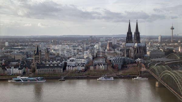Vista histórico centro colonia catedral río Foto stock © artjazz