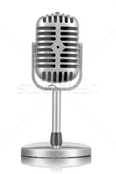 Retro microphone isolated on white Stock photo © artjazz