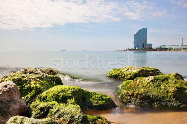 Barcelona hotel praia Espanha edifício paisagem Foto stock © artjazz