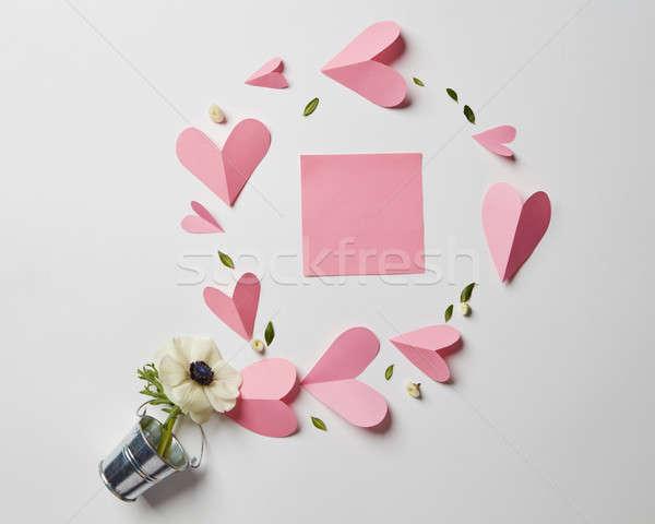 Empty copyspace valentine card Stock photo © artjazz