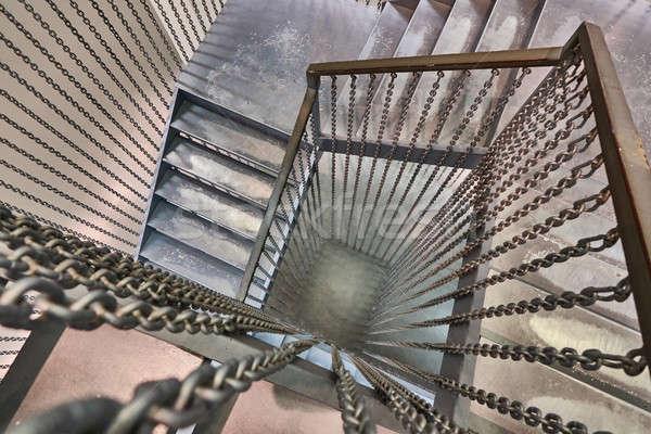 spiral metal staircase Stock photo © artjazz
