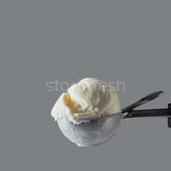 Vaniglia latte gelato palla raccogliere grigio Foto d'archivio © artjazz