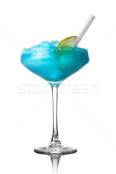 blue cocktail isolated on white Stock photo © artjazz