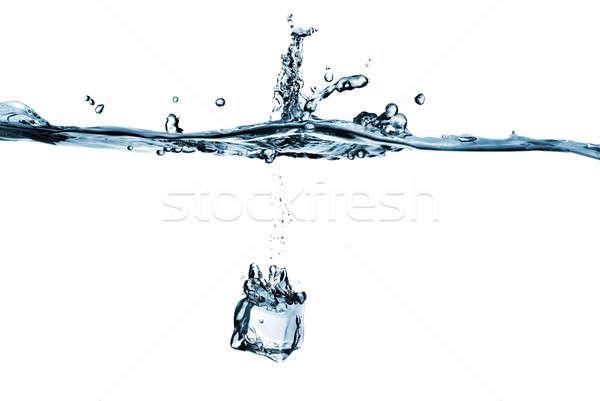 Buz yalıtılmış beyaz su ışık Stok fotoğraf © artjazz
