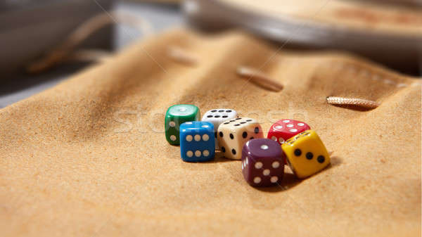 Colorful dices on background Stock photo © artjazz