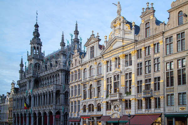 Houses of the famous Grand Place Stock photo © artjazz