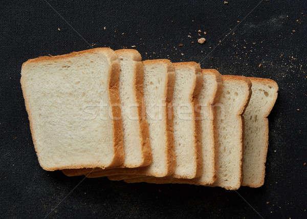 Slices of brown bread Stock photo © artjazz
