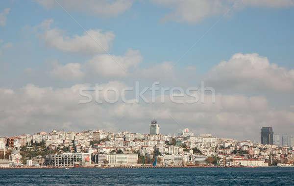 Isztambul tenger elöl Törökország arany duda Stock fotó © artjazz