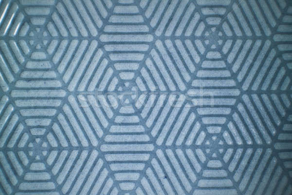 Ceramic blue tiles with decorative pattern Stock photo © artjazz