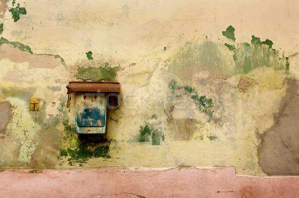 rusty mailbox on old wall Stock photo © artjazz