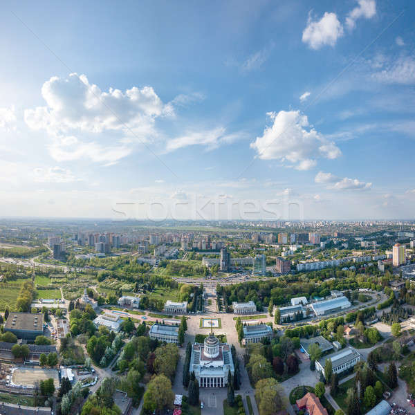 Exhibition Center at Kiev, vdnh, panoramic view city ,Ukraine. Photo from the drone Stock photo © artjazz