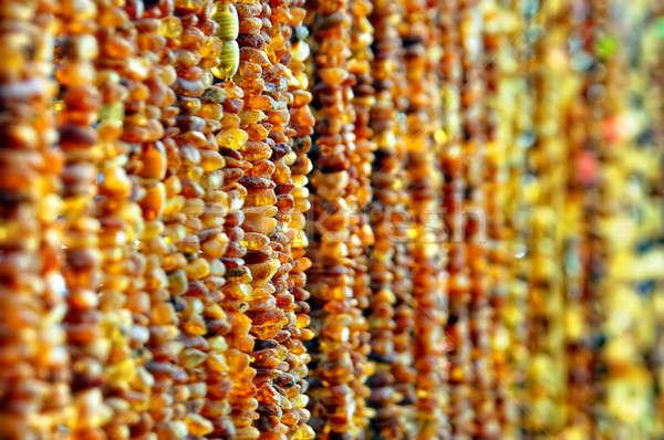 Halatlar kehribar moda turuncu sonbahar zincir Stok fotoğraf © artjazz