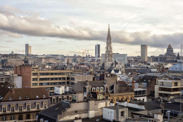 Cityscape of Brussels, Belgium Stock photo © artjazz