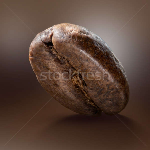 Coffee bean on brown background Stock photo © artjazz