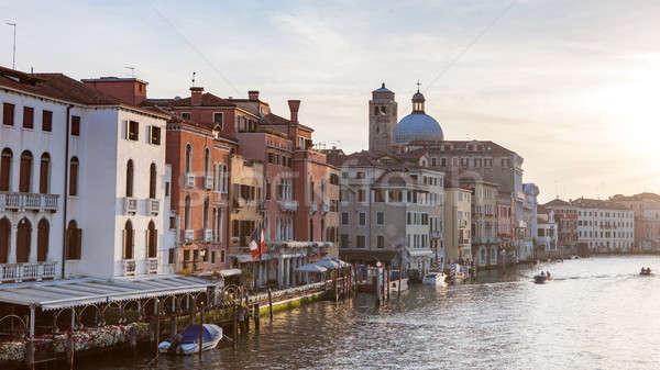 Canal Grande with Basilica di Santa Maria della Salute Stock photo © artjazz
