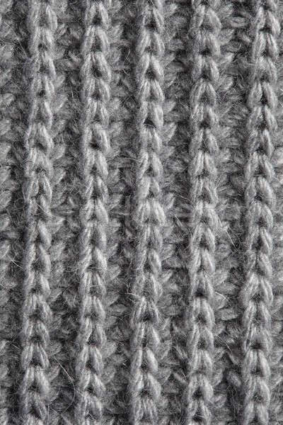 Gray knitted fabric background Stock photo © artjazz