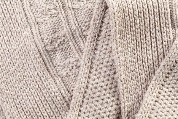 Close-up of a piece  knit fabric Stock photo © artjazz