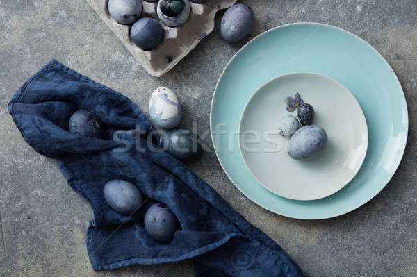 Yumurta dizayn üst görmek nokta pastel Stok fotoğraf © artjazz