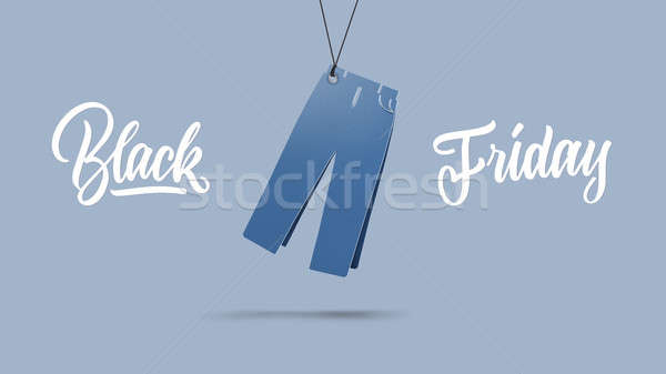 mens pants made of cardboard. black friday and sales concept Stock photo © artjazz