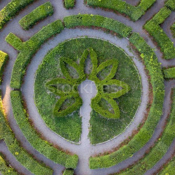 Vorm labyrint top kunst Stockfoto © artjazz