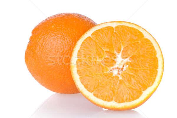 Stockfoto: Oranje · geïsoleerd · witte · voedsel · zomer · cocktail
