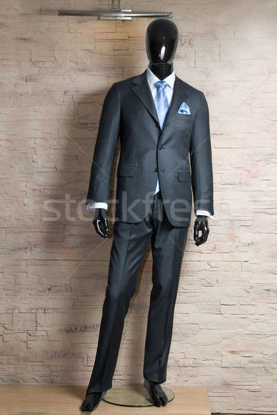 business dark grey suite on mannequin  Stock photo © artjazz