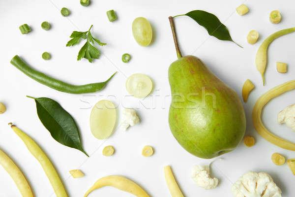 pear, cauliflower and beans Stock photo © artjazz