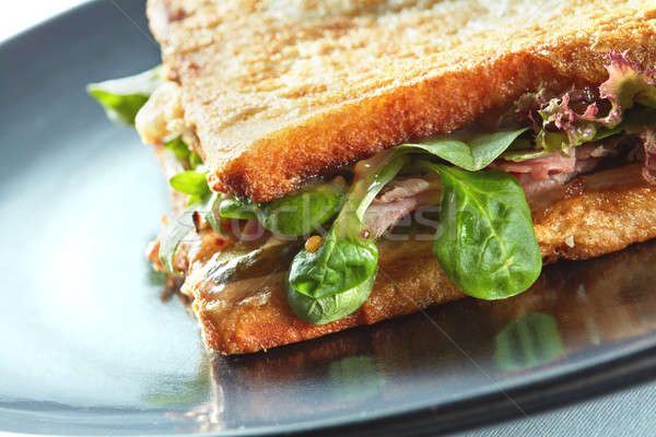 Fresche tostato panini blt sandwich prosciutto Foto d'archivio © artjazz