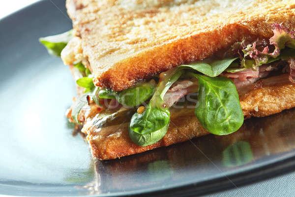 Fresco torrado panini blt sanduíche presunto Foto stock © artjazz