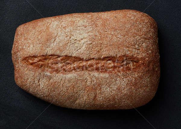 Een brood brood zwarte smakelijk donkere Stockfoto © artjazz