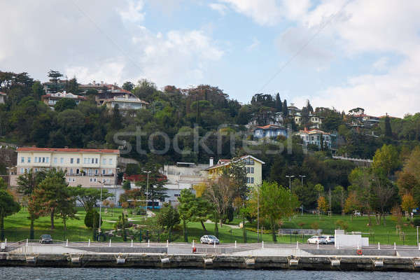 Landscape panoramic view from the sea to the historical part of Istanbul, Turkey. Stock photo © artjazz