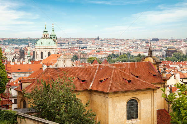 View from the grounds of Prague Stock photo © artjazz