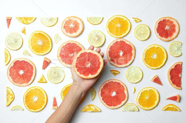 Foto stock: Fresco · laranja · limão · toranja