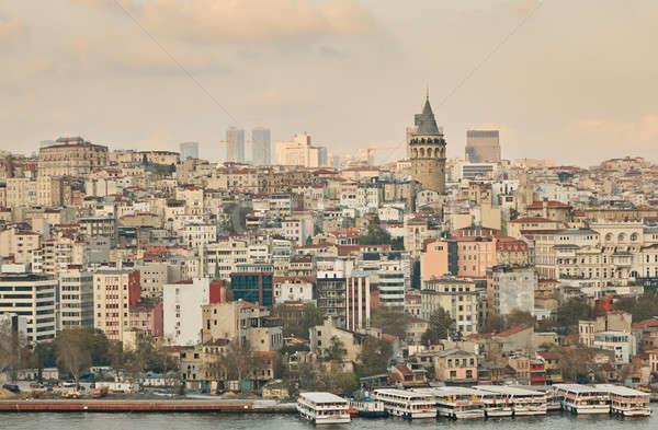 город Стамбуле башни суда Турция Сток-фото © artjazz