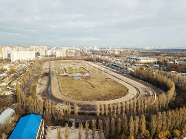 Panoramic aerial view from the drone, a view of the bird's eye to the Central Hippodrome of Ukraine  Stock photo © artjazz