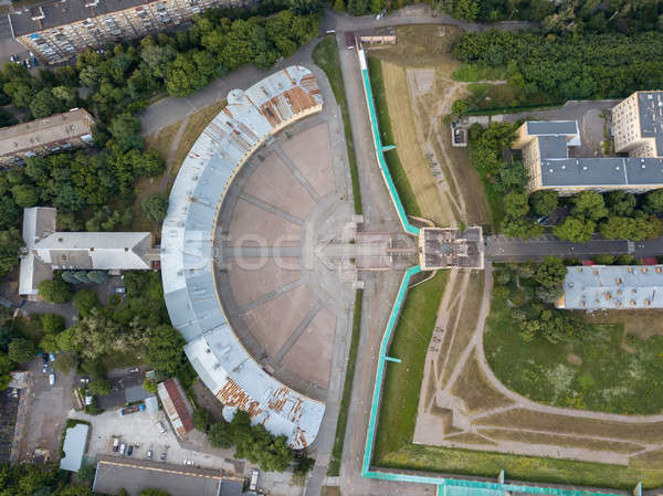 Bird view from the drone to a Kyiv Fortress Oblique caponier, Ukraine. Stock photo © artjazz