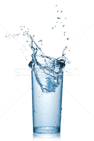 water splash in glass isolated on white Stock photo © artjazz