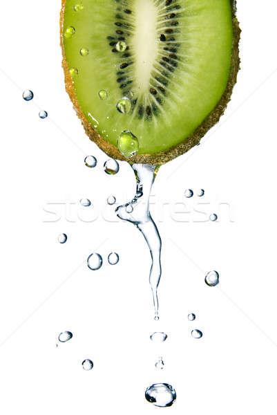 água doce gotas kiwi isolado branco comida Foto stock © artjazz