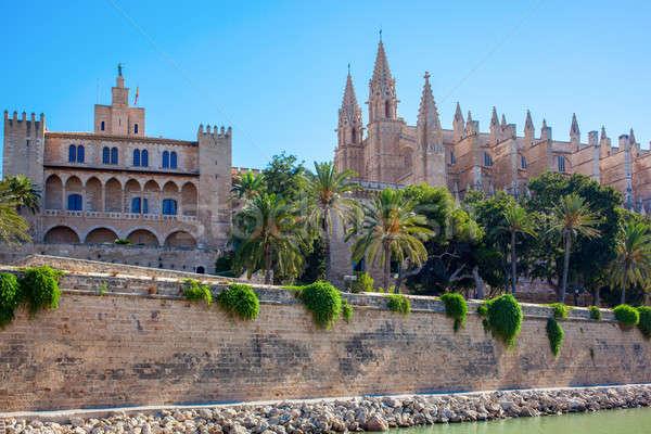 Cathedral of Palma de Mallorca Stock photo © artjazz