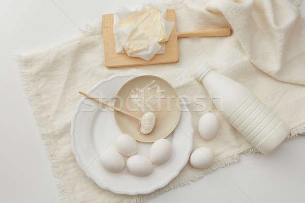 baking cake ingredients Stock photo © artjazz